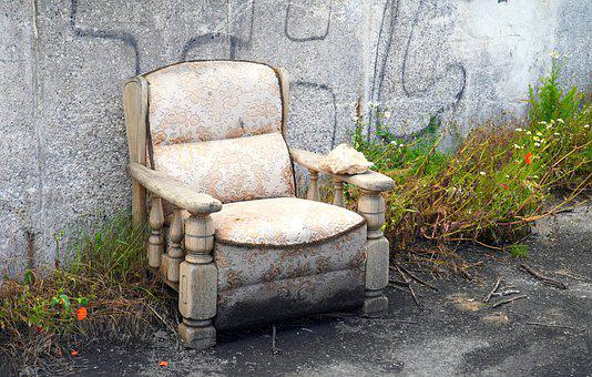 Chair, Old, Garbage, Decay, Past, Seat