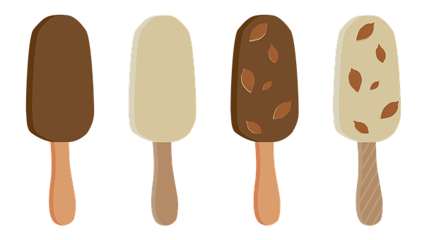 Ice Cream, Popsicle, On A Stick, Chocolate, With Nuts