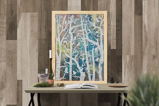 Paintings, Interior, Acrylic Painting, For Home, Forest