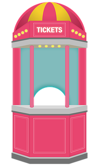 Ticket Booth, Circus, Ticket, Booth, Entertainment