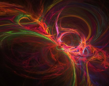 Fraktals, Black, Red, Orange, Aphopysis