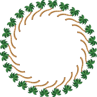 Coconut Palm, Palm Tree, Frame, Border