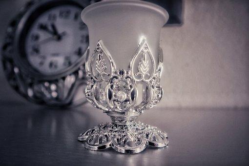 Silver, Grail, Clock, Time, Gray Time, Gray Clock
