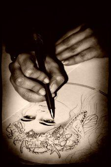 Drawing, Pencil, Black, Creativity, Manual, Draw