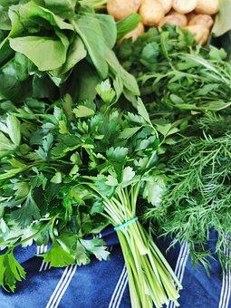 Vegetables, Parsley, Dill, Sorrel, Potatoes, Greens