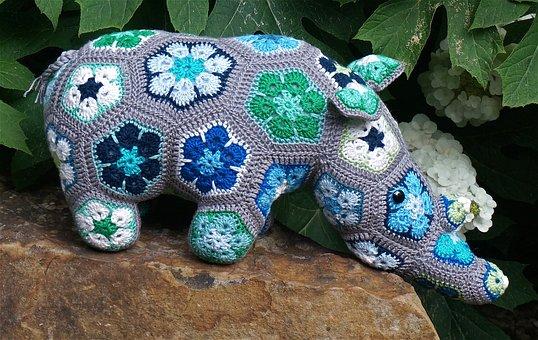 Thandi The Rhinoceros, African Flower Design