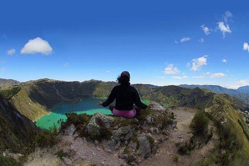Ecuador, Quilotoa, An, Lake, Green, America, Andes