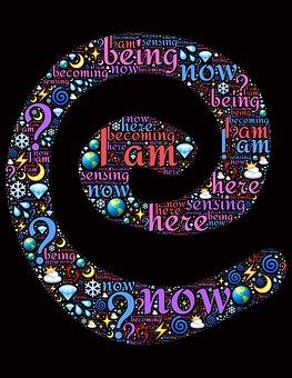Spiral, Words, Thoughts, Mindfulness, Awareness, Awake