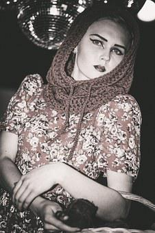 Model, Girl, Dress, View, Beauty, Dark Background