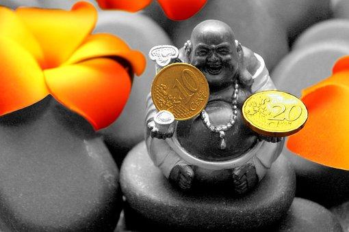 Buddha, Statue, Money, Blossom, Bloom, Religion, Temple