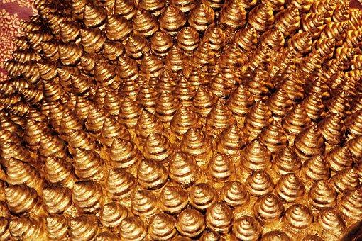 Gold, Nap, Head, Buddha, Religion, Meditation, Buddhism