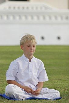 Boy, Buddhist, Meditate, Wat, Temple, Buddhism