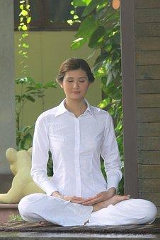 Woman, Meditation, Spa, Buddhist, Wellness, Wellbeing