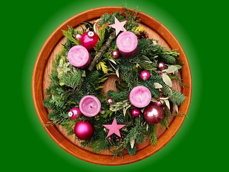Advent Wreath, Advent, Christmas, Candle, Meditative