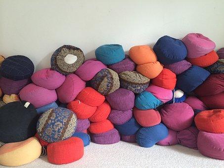 Pillow, Meditation, Colorful