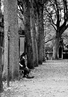 Meditation, Contemplation, Cemetery, Father Lachaise