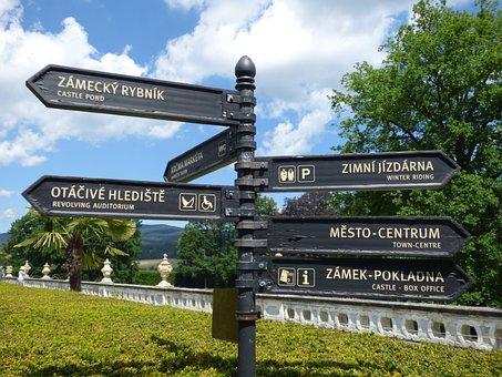 Signpost, Sign, Arrows, Direction, Tourism, Designation