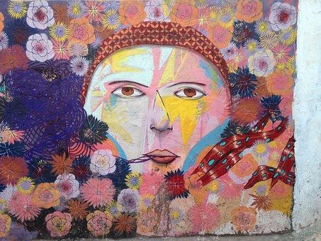 Mural, Art, Painting, Face, Graffiti, Paint, Painted