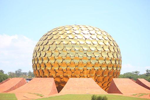 Pondicherry, Globe, Round, Symbol, Puducherry, India