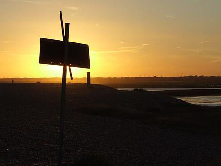 West, Sun, Sunset, Landscape, Evening, Water, Holidays