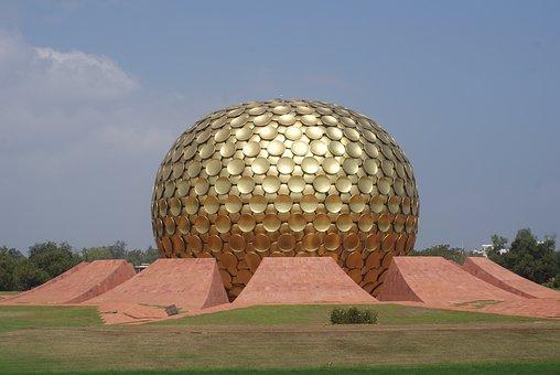Auroville, Golden, Globe, Pondicherry, India