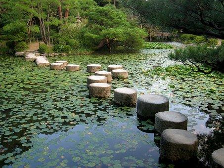 Japanese Garden, Kyoto, Japan, Koi Pond