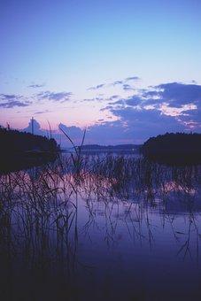 Lake, Landscape, Water, Nature, Abendstimmung, Sunset