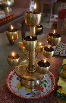 Candles, Lights, Holder, Flame, Celebration, Fire