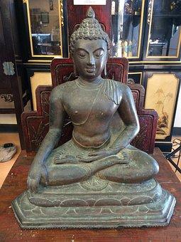Buddha Statue, Buddha, Meditation, Meditating, Bronze