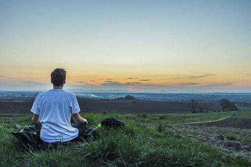 Meditation, Calm, Above The City, Awareness, Meditating