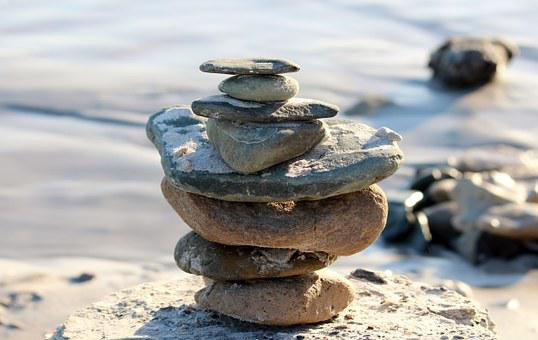 Stones, Tower, Rest, Force, Meditation, Fig