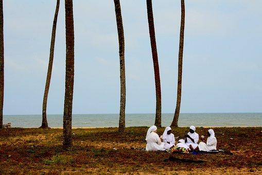 Meditation, Community, Sisterhood, Beach, Coast, Benin