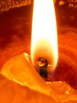 Flame, Wick, Candle, Glow, Advent, Meditative