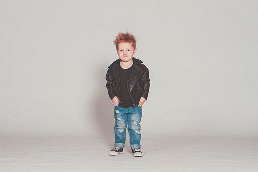 Baby, Perfecto, Rock, Punk, Leather Jacket, Boy, Model