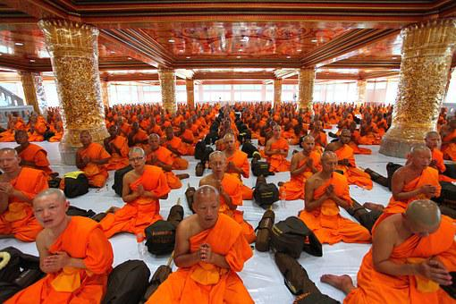 Temple, Monks, Pray, Buddhists, Thailand, Meditate