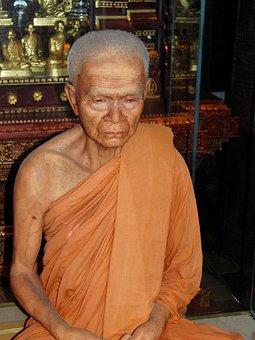 Monk, Buddhism, Thailand, Asia, Temple, Orange