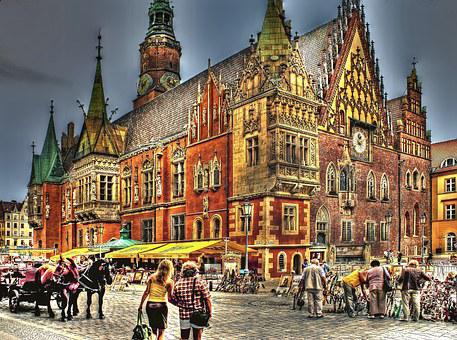 The Town Hall, Wrocław, Town Hall, Architecture, People