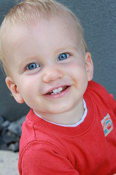 Baby, Smile, Cheese, Cute, Face, Portrait, Blond, Boy