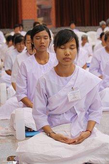 Observe, Religious, Precepts Rite, In, Thai, Meditation