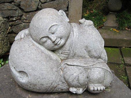 Buddha, Statue, Stone, Asian, Meditation, Sleep