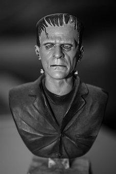 Frankenstein, Monster, Statue, Man, Art, Unusual, Style