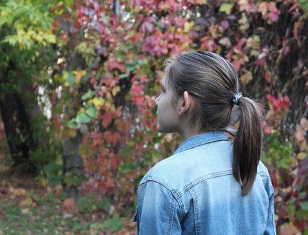 Girl, Autumn, Park, Leaves, Stroll, Forest