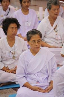 Observe, Religious, Precepts Rite, In, Thai, Meditation