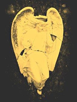 Angel, Stone, Grave, Tombstone, Broken, Cemetery, Fig