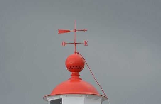 Weather Vane, Wind, Wrought Iron, Sky, Wind Indicator