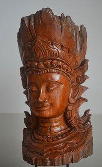 Buddha, Carving, Wood, Religion, Buddhism, Asia, Statue