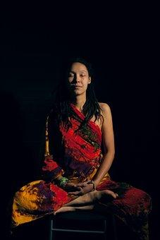 Woman, Meditation, Om, Dream, Spiritual, Zen