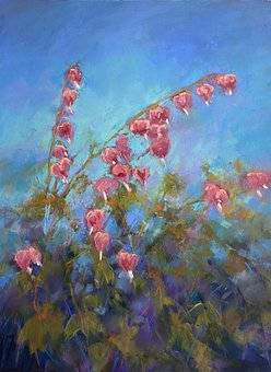 Pastel Painting, Flowers, Art, Spring