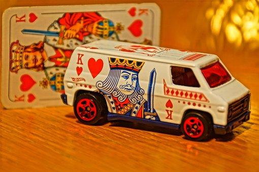Toy Car, Model Car, Heart, Playing Card, King, Bus