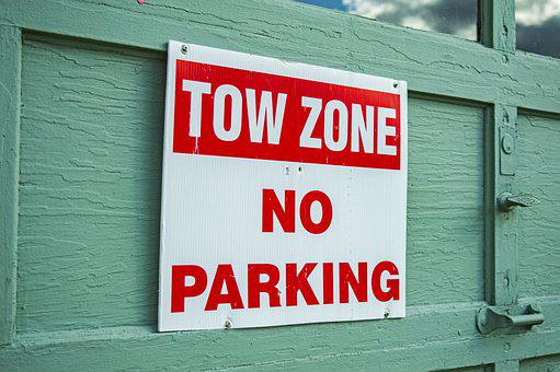 Tow Zone, No Parking, No Parking Sign, Street Sign